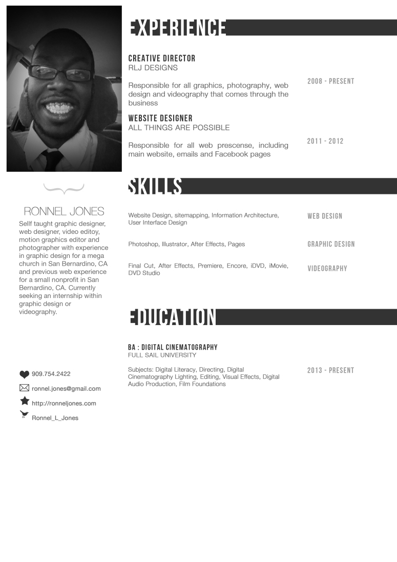 Ronnel Creative Resume 2
